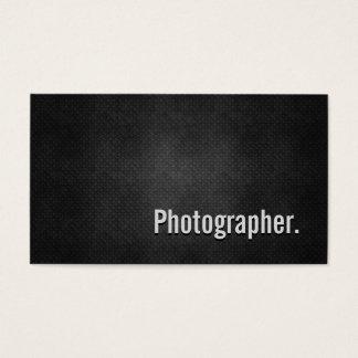 Cartão De Visitas Simplicidade preta legal do metal do fotógrafo