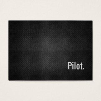 Cartão De Visitas Simplicidade preta legal do metal do piloto