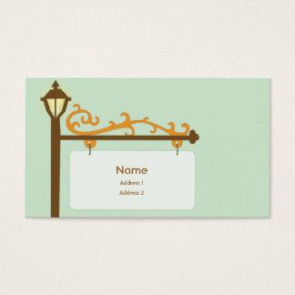 Cartão De Visitas Sinal de rua - negócio