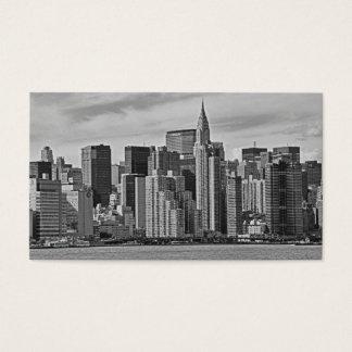 Cartão De Visitas Skyline da Nova Iorque do East River B&W
