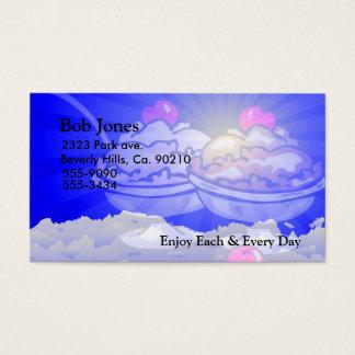 Cartão De Visitas Skyline do sorvete