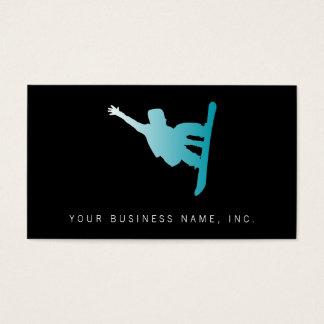 Cartão De Visitas snowboarder do azul do inclinação