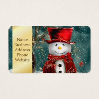 Cartão De Visitas Snowmans bonitos - ilustração do boneco de neve