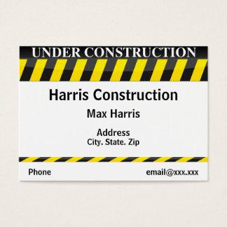 Cartão De Visitas Sob a construção