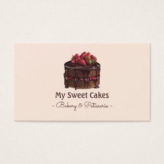Cartão De Visitas Sobremesa elegante do bolo de chocolate da