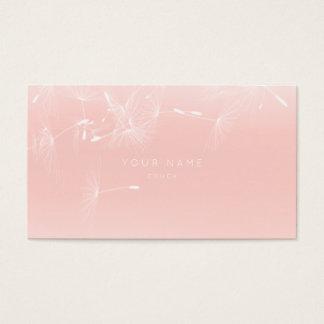 Cartão De Visitas Sofá cor-de-rosa de Ombre do dente-de-leão