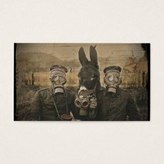 Cartão De Visitas Soldados asno e máscaras de gás