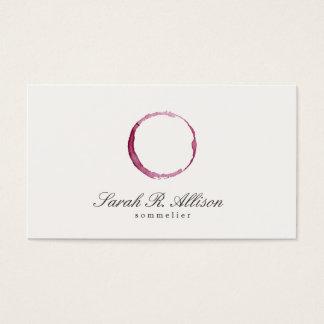Cartão De Visitas Sommelier elegante da mancha do vinho