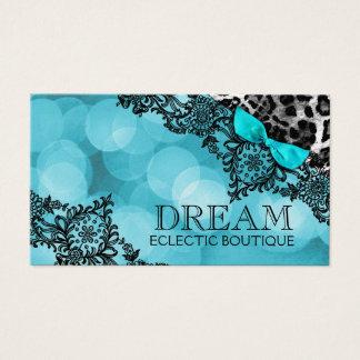 Cartão De Visitas Sonho 311 no papel da pérola do leopardo & do Aqua