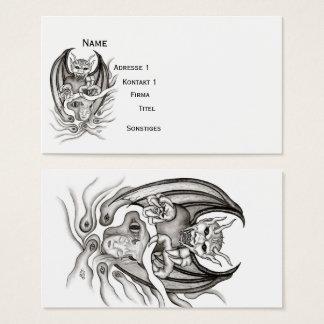 Cartão De Visitas Sonho da meia-noite - diabos no Tatuagem-estilo
