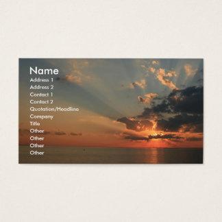 Cartão De Visitas Sonhos do por do sol