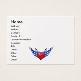 Cartão De Visitas Sonhos flamejantes