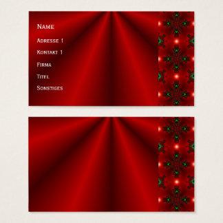 Cartão De Visitas Sonhos vermelhos