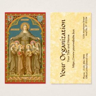 Cartão De Visitas St. Clare do padrão de Assisi (SAU 027)