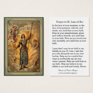 Cartão De Visitas St. Joana do soldado dos anjos de St Michael do