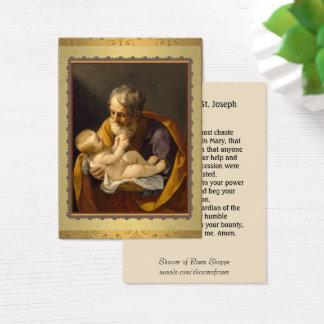 Cartão De Visitas St Joseph que guardara a oração de Jesus Memorare