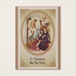 Cartão De Visitas St. Santo padroeiro do peregrino da oração de