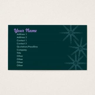 Cartão De Visitas Starburst