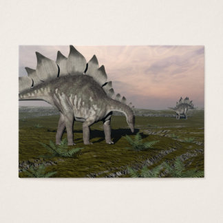 Cartão De Visitas Stegosaurus com fome - 3D rendem