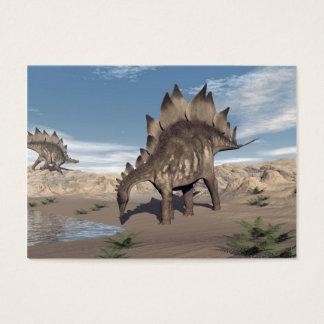 Cartão De Visitas Stegosaurus perto da água - 3D rendem