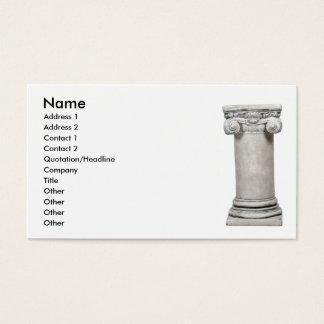 Cartão De Visitas SturdyColumn, nome, endereço 1, endereço 2, Conta…