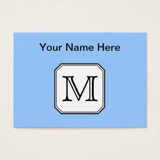 Cartão De Visitas Sua letra. Monograma feito sob encomenda. Branco