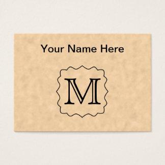 Cartão De Visitas Sua letra. Monograma feito sob encomenda. Preto &