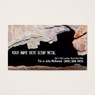 Cartão De Visitas Sucata do reciclador do metal - tubulação oxidada