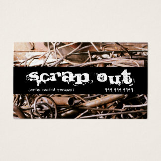 Cartão De Visitas Sucata do reciclagem da remoção da sucata