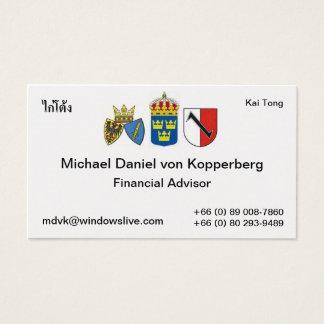 Cartão De Visitas suecia, essen 1, סמלשלאסן X3, תאי, Michael a