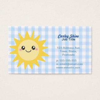 Cartão De Visitas Sun feliz bonito
