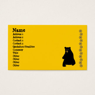 Cartão De Visitas sunstencil, blackbear, nome, endereço 1, endereço…