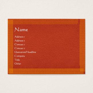 Cartão De Visitas Superfície à moda da beira n de Brown