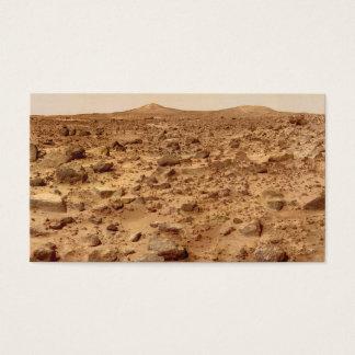 Cartão De Visitas Superfície rochosa do planeta Marte