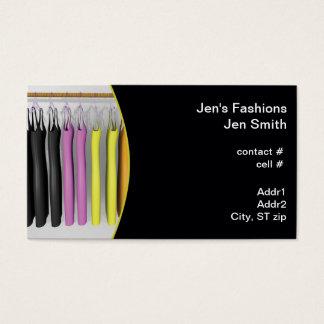 Cartão De Visitas suspensão colorida dos vestidos