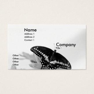 Cartão De Visitas Swallowtail preto