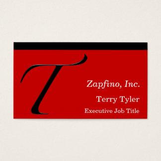 Cartão De Visitas T - Inicial no vermelho