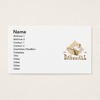 Cartão De Visitas T-shirt e presentes do basebol do estilo antigo
