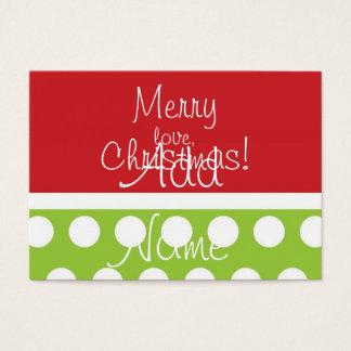 Cartão De Visitas Tag ancas do presente do Natal