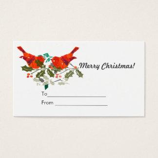 Cartão De Visitas Tag bonito do presente de Holidy