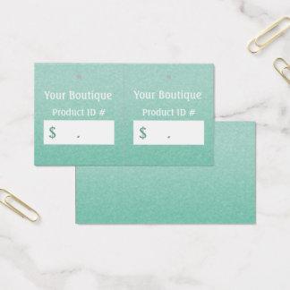 Cartão De Visitas Tag chiques simples do cair das vendas a retalho