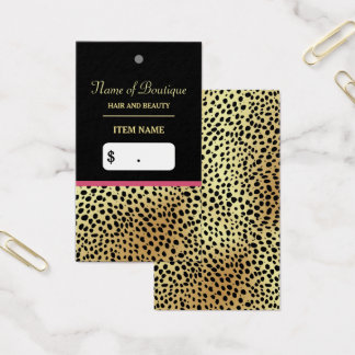 Cartão De Visitas Tag cor-de-rosa do cair do boutique da beleza do