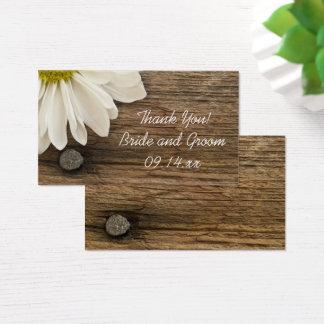 Cartão De Visitas Tag de madeira do favor do casamento do país do