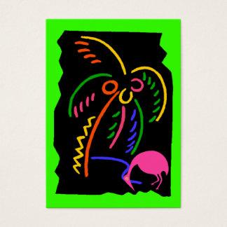 Cartão De Visitas Tag de néon retros do presente da lembrança do