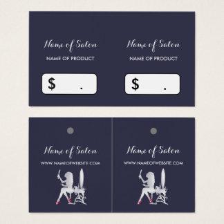 Cartão De Visitas Tag de prata do cair do boutique da composição da