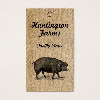 Cartão De Visitas Tag de Procduct do porco e da carne de