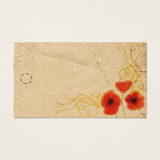 Cartão De Visitas Tag do cair das papoilas