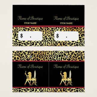 Cartão De Visitas Tag do cair do boutique do cabelo da mulher do