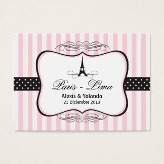 Cartão De Visitas Tag do favor do casamento da torre Eiffel de Paris