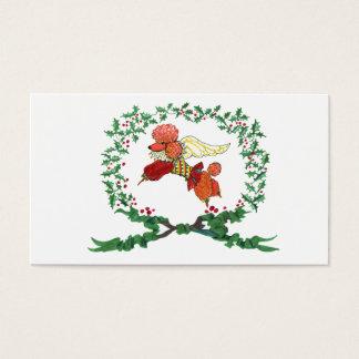 Cartão De Visitas Tag do presente da caniche do abricó dos anjos de